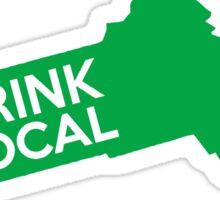 Massachusetts Drink Local MA Green Sticker