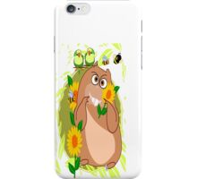Hamster with His Friends Greetings (2871 Views) iPhone Case/Skin