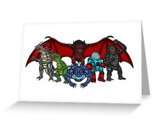 Brink Of Armageddon Giant Monsters Greeting Card