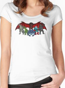 Brink Of Armageddon Giant Monsters Women's Fitted Scoop T-Shirt