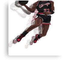 "Jumpman ""23"" Black (@AkaiTheDesigner) Canvas Print"