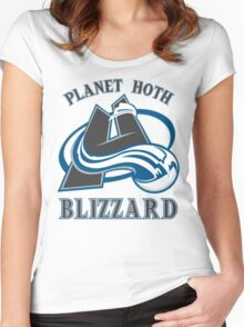 Planet Hoth Blizzard Women's Fitted Scoop T-Shirt