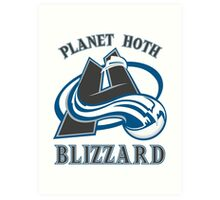Planet Hoth Blizzard Art Print