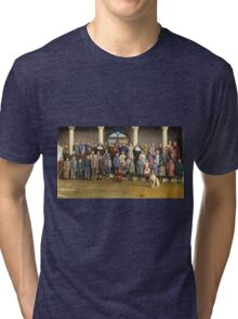 Colorized Students & faculty of a Catholic School 1920 Tri-blend T-Shirt