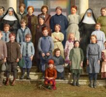 Colorized Students & faculty of a Catholic School 1920 Sticker