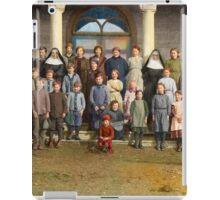 Colorized Students & faculty of a Catholic School 1920 iPad Case/Skin