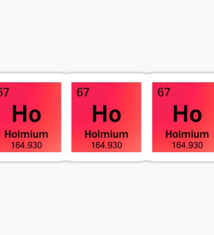 Ho Ho Ho for the Holidays with Periodic Table Symbols Sticker
