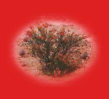 Red Wildflower Kids Tee
