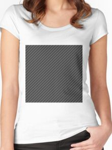 Carbon fiber Women's Fitted Scoop T-Shirt