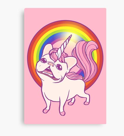 The Unicorn Frenchie Canvas Print