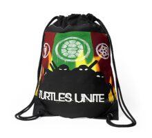 Turtles Unite - Artist Sarah Drawstring Bag