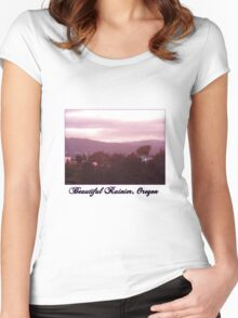 Sunrise Over the Columbia River #9 Women's Fitted Scoop T-Shirt