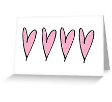 row of hearts Greeting Card