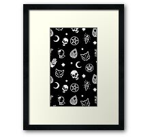 Witch Pattern Framed Print