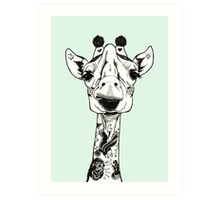 Tattooed Giraffe Art Print