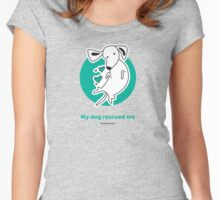 Tummy Rub Human Rescue Women's Fitted Scoop T-Shirt