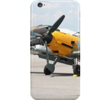 WWII German single emgine fighter ME-109 front view iPhone Case/Skin