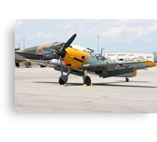 WWII German single emgine fighter ME-109 front view Canvas Print