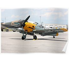 WWII German single emgine fighter ME-109 front view Poster