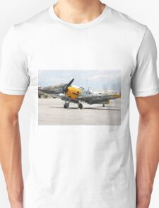 WWII German single emgine fighter ME-109 front view T-Shirt