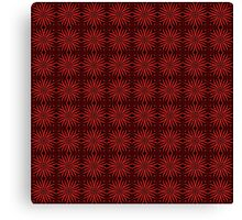 Spinning Red Metal Flower Petals on Black Background Canvas Print
