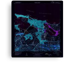 USGS TOPO Map Puerto Rico PR San Juan 362586 1949 30000 Inverted Canvas Print