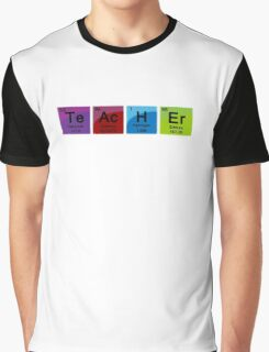 Teacher Spelled with Periodic Table Symbols Graphic T-Shirt