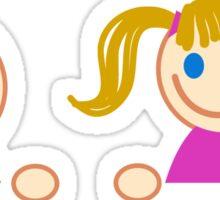 stick figure kids  Sticker