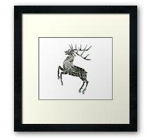 Pine Tree Deer Framed Print