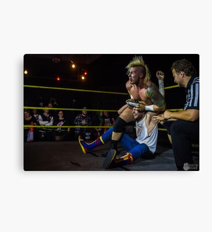 Dowie James and Josh Shooter having a grate time Canvas Print