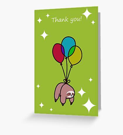 """Thank You"" Sloth Greeting Card"