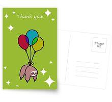 """Thank You"" Sloth Postcards"