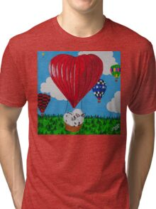 Bunny Anytime Valentines-Design One Tri-blend T-Shirt