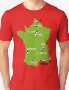 stadium took place in 2016 in France euro cup T-Shirt