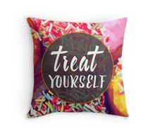 Treat Yourself Throw Pillow