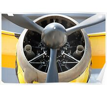 Bristol Mercury 870 hp engine, propeller of Army Co-operation single engine Westland Lysander III aircraft. Poster