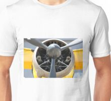 Bristol Mercury 870 hp engine, propeller of Army Co-operation single engine Westland Lysander III aircraft. Unisex T-Shirt