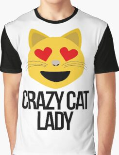 Crazy Cat Lady Emoji Graphic T-Shirt