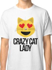 Crazy Cat Lady Emoji Classic T-Shirt