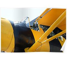 Army Co-operation single engine Westland Lysander III aircraft cockpit. Poster
