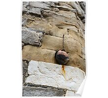 The Hanging Jar - Rough Weathered Stones, Rust and Ceramics - a Vertical View Poster