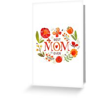 Mother's Day Butterflies and Flowers Greeting Card