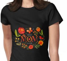 Mother's Day Butterflies and Flowers Womens Fitted T-Shirt