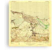 USGS TOPO Map Puerto Rico PR San Juan 362582 1941 30000 Canvas Print