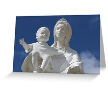 Statue of Mary and Baby Greeting Card