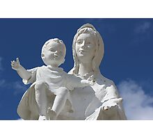 Statue of Mary and Baby Photographic Print