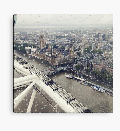 London and London eye Canvas Print