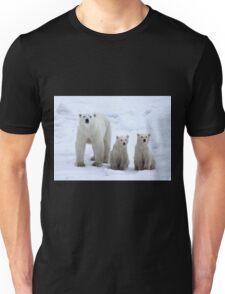 Family Portrait #1 - Polar Bears, Churchill, Canada Unisex T-Shirt