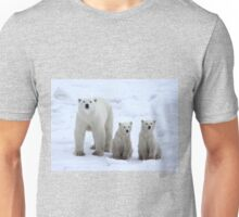 Family Portrait #1 - Polar Bears, Churchill, Canada Unisex T-Shirt