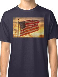 American Sunset On Fire Classic T-Shirt